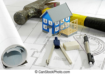 Home Renovation - Miniature House With Various Drafting...