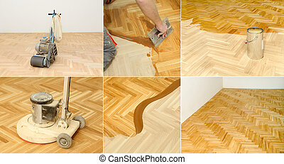 Home renovation, parquet - Varnishing of oak parquet floor...