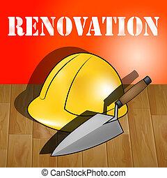 Home Renovation Represents House Improvement 3d Illustration