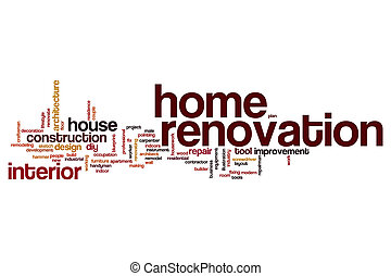 Home renovation word cloud concept