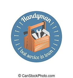 Home repair and remodel vector logo, icon, badge