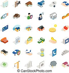 Home repair icons set, isometric style - Home repair icons...