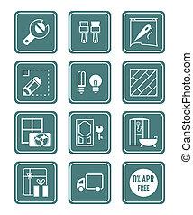 Home repair icons | TEAL series