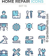 Home repair icons. Vector line icons set. Premium quality. Simple thin line design. Modern outline symbols, pictograms