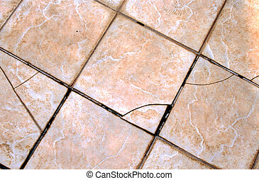 Home Repair Maintenance Cracked External Tiles - Cracked and...
