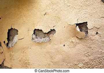 Home Repair Maintenance Water Damaged Peeling External Paint...