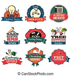 Home Repair Service Icons