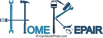 Repair a house symbol for business with a tool