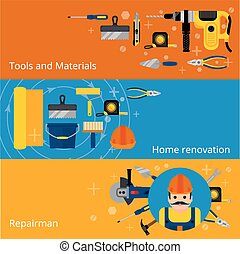 Home repairs and renovation banners