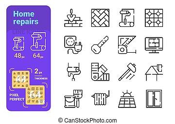 Home repairs icons set