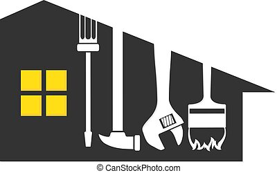 Repair a house symbol for business