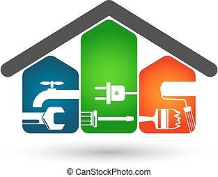 Home repairs - Repair of home symbol for business