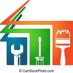 Home repairs and construction of a symbol, repair tool
