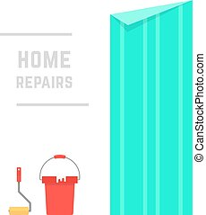 home repairs with hanging wallpaper