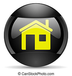 home round black web icon on white background