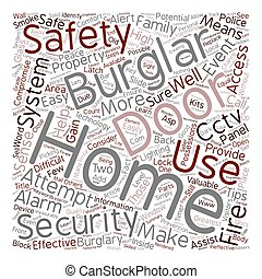 Home safety Tips text background wordcloud concept