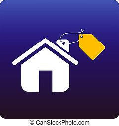 Home sale - Price tag onto a house
