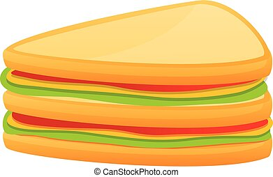 Home sandwich icon. Cartoon of home sandwich vector icon for web design isolated on white background