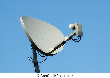 Home Satellite - Closeup view of a home satellite shot...