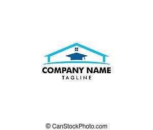 Home Schooling Logo Vector Template