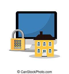 home security computer password padlock