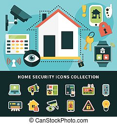 Home Security Icons Collection