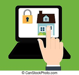 home security laptop technology digital system