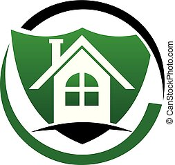 Home Security Logo Design Template Vector