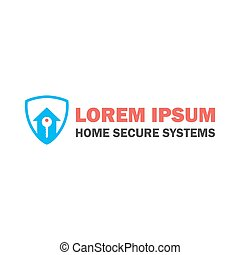 Home Security Logo with Key