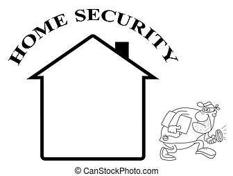 Home security - Representation of home security isolated on...