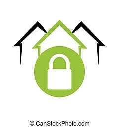 home security system emblem lock