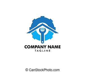 Home Service Logo Template Design