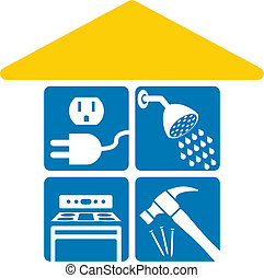 Home services - Services required in a house, 100% editable...