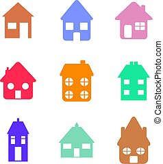 home shapes - Collection of house and home icon shapes...