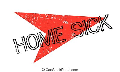 Home Sick rubber stamp