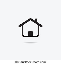 Home sign icon. - Map pointer house sign icon. Home location...