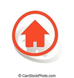 Home sign sticker, orange