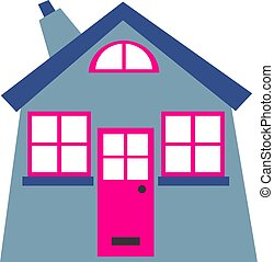 Home - Simple graphic of a house.
