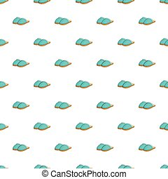 Home slippers pattern, cartoon style