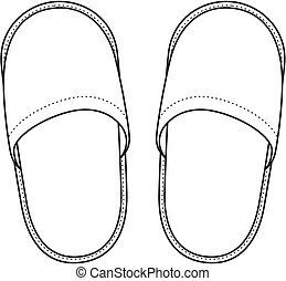 Home slippers - Vector illustration of home slippers
