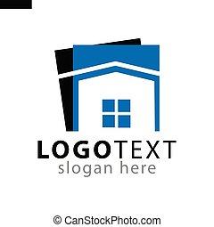 Home square logo icon vector template