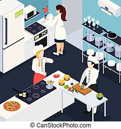 Home Staff Isometric Composition