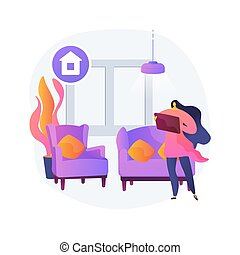 Home staging abstract concept vector illustration. Hiring ...
