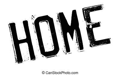 Home stamp rubber grunge