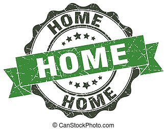 home stamp. sign. seal