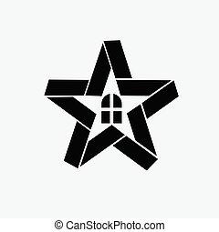 Home Star vector