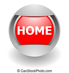 home steel glosssy icon