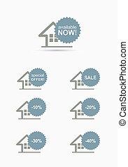 home stickers set