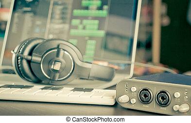Home studio Computer music work station equipment