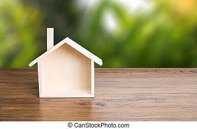 Home sweet home copy space Handmade home Shaped symbol house